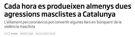 Notícia del Diari Ara. Dades de l'Observatori contra la Violència Masclista del Consell General del Poder Judicial (CGPJ)
